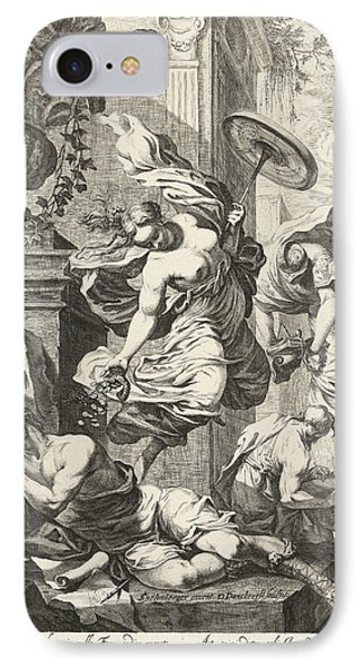 Allegory Of Fortuna And Science, Dancker Danckerts IPhone Case by Dancker Danckerts