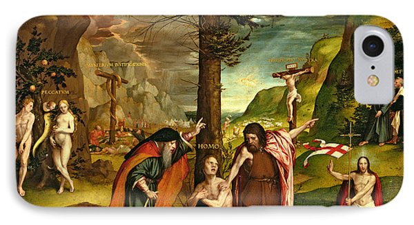 Allegory Of The Old And New Testaments, Early 1530s Oil On Panel IPhone Case by Hans Holbein the Younger