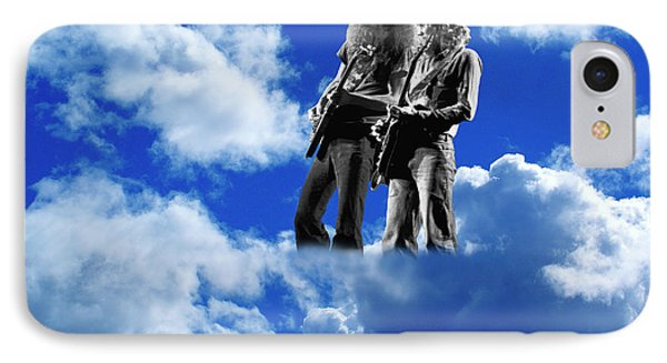 IPhone Case featuring the photograph Allen And Steve In Clouds by Ben Upham