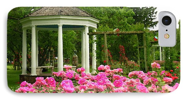 Allentown Pa Gross Memorial Rose Gardens IPhone Case by Jacqueline M Lewis