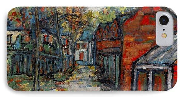 Alley Behind Sydenham Street IPhone Case by David Dossett