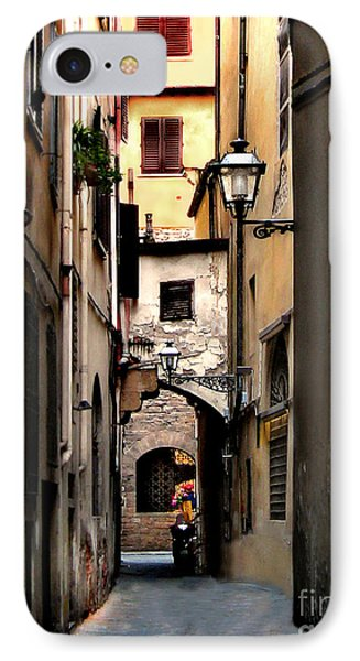 Alley In Florence 1 IPhone Case by Jennie Breeze