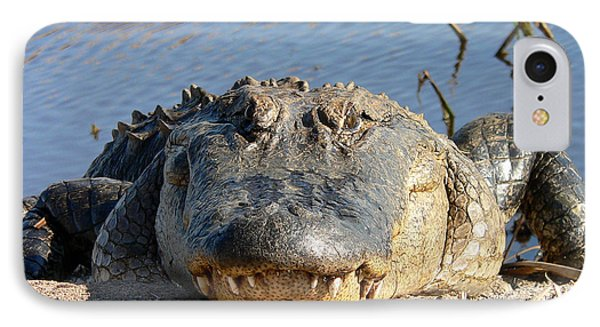 Alligator Approach Phone Case by Al Powell Photography USA