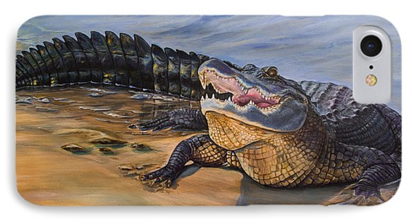 Alligator. Face To Face IPhone Case
