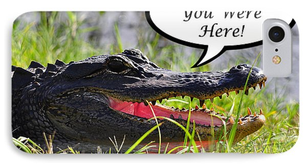 Alligator Greeting Card Phone Case by Al Powell Photography USA