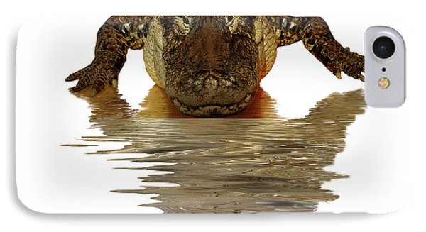 Alligator Making Eye Contact With You IPhone Case by Linda Matlow