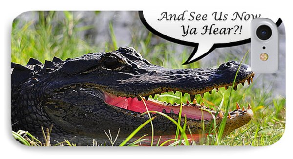 Alligator Yall Come Back Card Phone Case by Al Powell Photography USA
