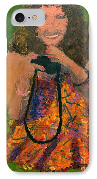 IPhone Case featuring the painting Allison by Donald J Ryker III