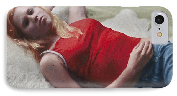 Allison Reclining Phone Case by Charles Pompilius