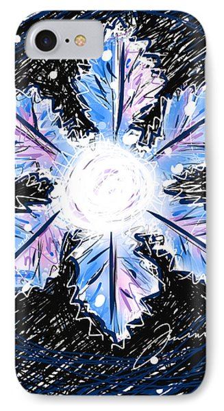 IPhone Case featuring the painting Allison Snowflake by Jean Pacheco Ravinski