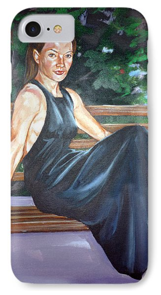 IPhone Case featuring the painting Allison Two by Bryan Bustard
