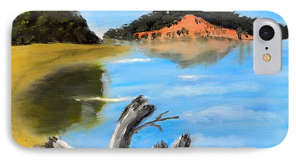 IPhone Case featuring the painting Allonah Beach Tasmania by Pamela  Meredith