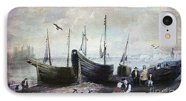 Allonby - Fishing Village 1840s IPhone Case by Lianne Schneider