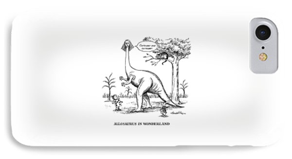 Allosaurus In Wonderland IPhone Case by J.B. Handelsman