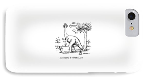 Allosaurus In Wonderland IPhone Case by J.B. Handelsman