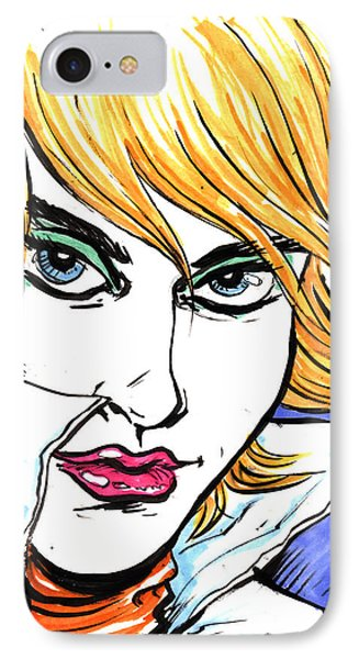 IPhone Case featuring the drawing Allure by John Ashton Golden