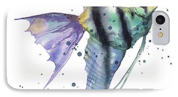 Alluring Angelfish IPhone 7 Case by Alison Fennell