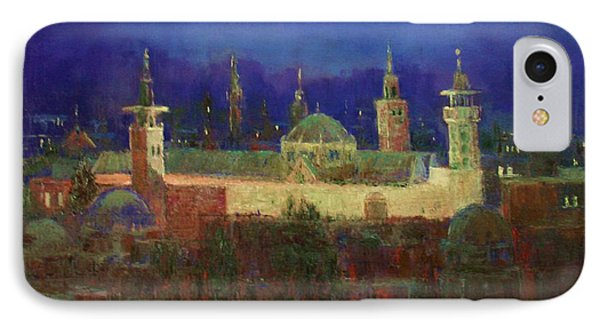Almasjed Alamawe At Night - Damascus - Syria IPhone Case