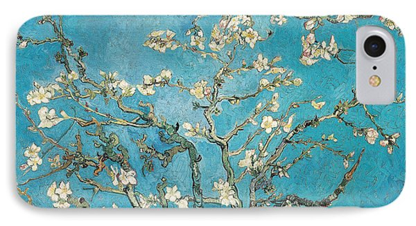 Flowers iPhone 7 Case - Almond Branches In Bloom by Vincent van Gogh