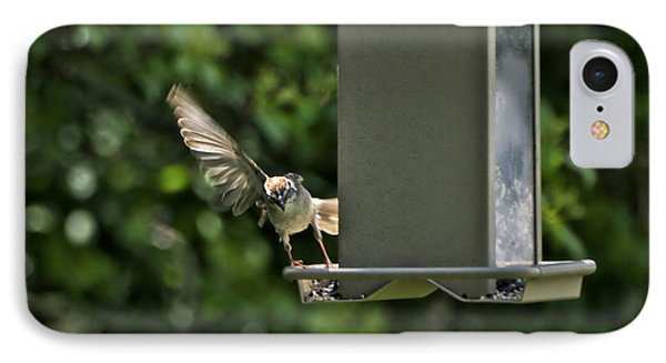 IPhone Case featuring the photograph Almost A Ruff Bird Landing by Thomas Woolworth