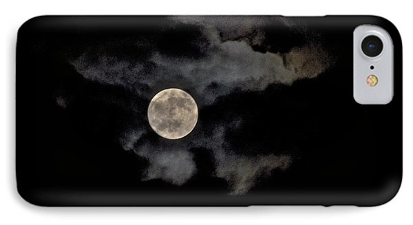 Almost Full Moon IPhone Case by Joe  Burns