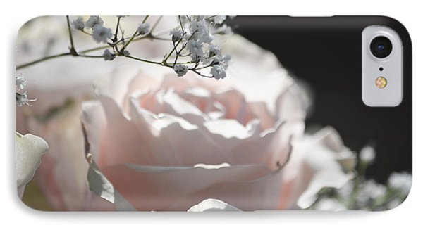 Almost White Roses IPhone Case by Deprise Brescia