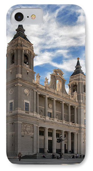 Almudena Cathedral Phone Case by Joan Carroll