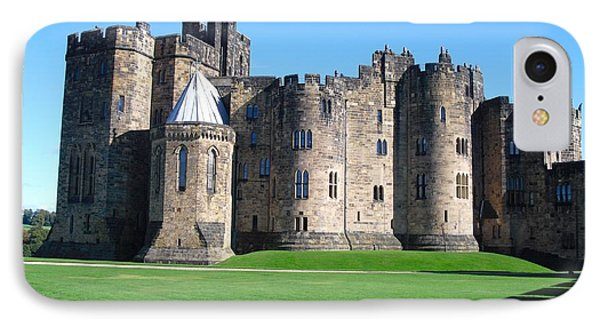 IPhone Case featuring the photograph Alnwick Castle Castle Alnwick Northumberland by Paul Fearn