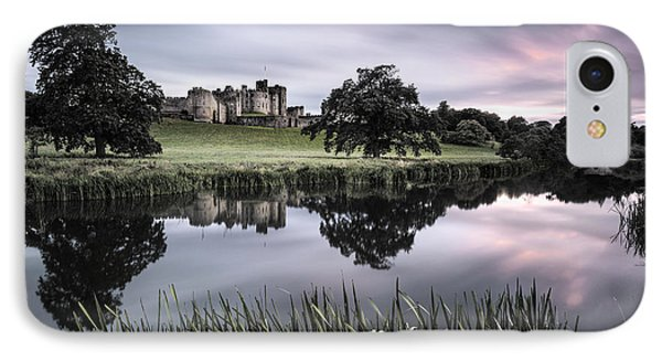 Alnwick Castle Sunset IPhone Case by Dave Bowman