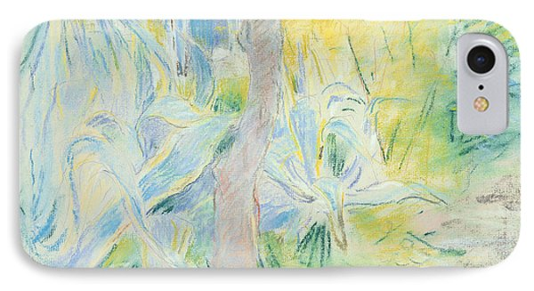 Aloes At Villa Ratti IPhone Case by Berthe Morisot