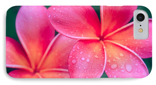 Aloha Hawaii Kalama O Nei Pink Tropical Plumeria Phone Case by Sharon Mau