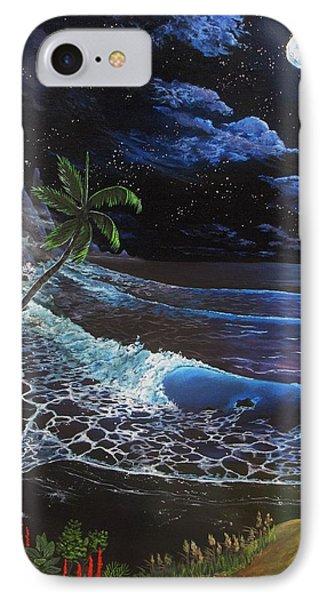 Aloha Luna IPhone Case by Kevin F Heuman