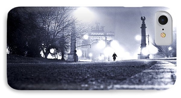Alone Brooklyn Nyc Usa IPhone Case by Sabine Jacobs