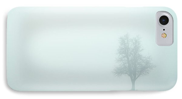 Alone In The Fog - Green Phone Case by Hannes Cmarits