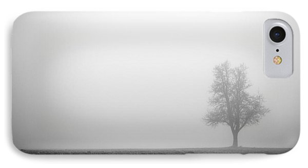 Alone In The Fog - Bw Phone Case by Hannes Cmarits