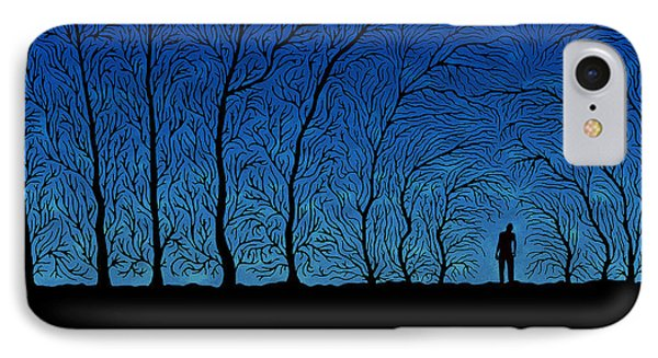 Alone In The Forrest IPhone Case by Gianfranco Weiss