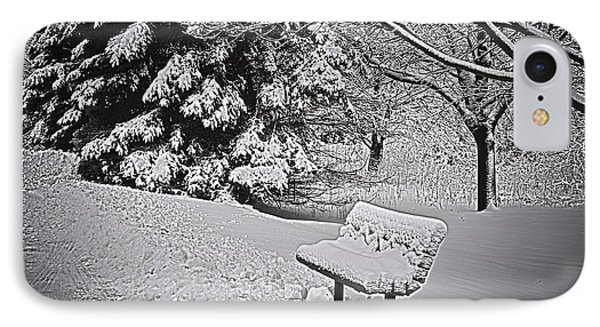 IPhone Case featuring the photograph Alone In The Park.... by Deborah Klubertanz