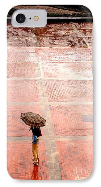 Alone In The Rain Phone Case by Michal Bednarek
