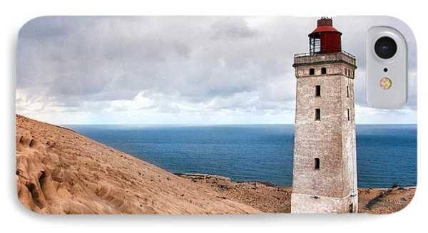 Lighthouse On The Sand Hils IPhone Case by Mike Santis