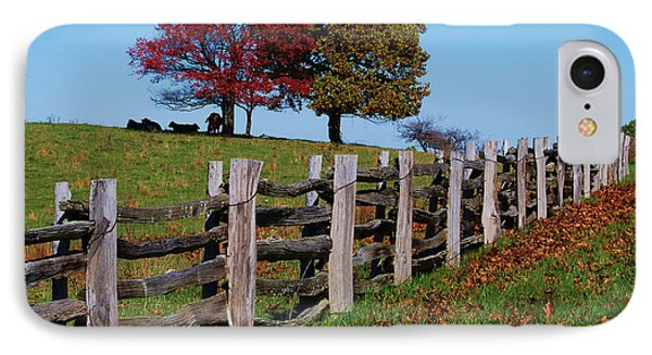 Along The Fence IPhone Case by Eric Liller
