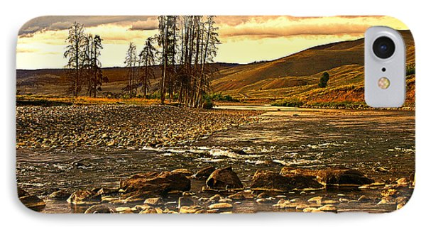 Along The Larmar River Phone Case by Marty Koch