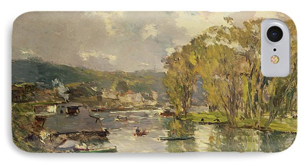 Along The Seine At Meudon Phone Case by Albert Charles Lebourg