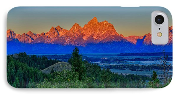 Alpenglow Across The Valley IPhone Case