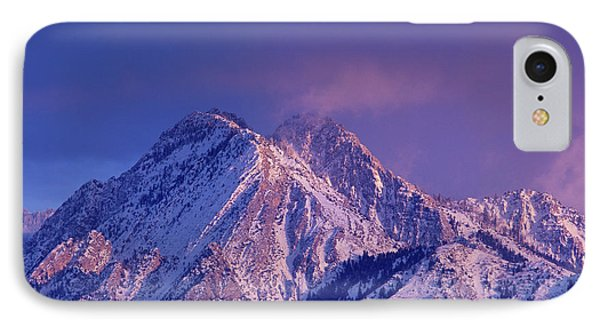 Alpenglow On Mount Olympus IPhone Case by Howie Garber