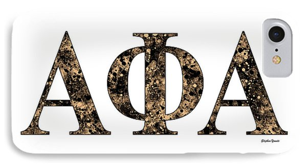 Alpha Phi Alpha - White IPhone Case by Stephen Younts