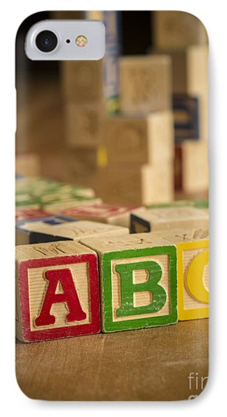 Alphabet Blocks IPhone Case by Edward Fielding