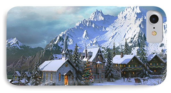 Alpine Christmas IPhone Case by Dominic Davison