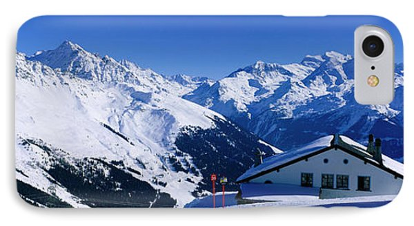 Alpine Scene In Winter, Switzerland IPhone Case by Panoramic Images