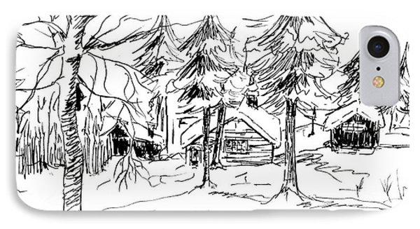 Alpine Snow Scene IPhone Case