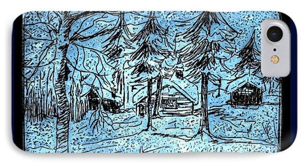Alpine Snow Storm Black Frame IPhone Case